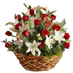 Gift Mixed Flowers Basket Online