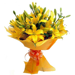 Book Yellow Lilies Bouquet Online