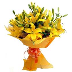 Book Yellow Lilies Bouquet Online