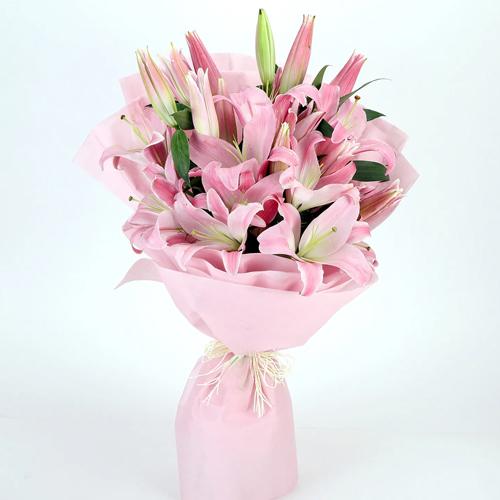Sauve Bouquet of Pink Lilies