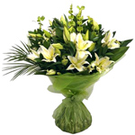 Good Looking Bouquet of White Lilies