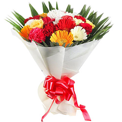 Online Order Mixed Flowers Bouquet