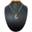 Mind-Stirring Captivation Gold Plated Necklace with Teresa Pendant<br>