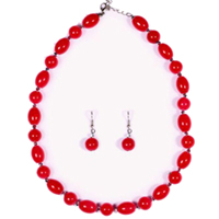 Designer Necklace Set with Beads Design