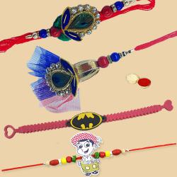 Amazing 2 Kids Rakhi with a Bhaiya Bhabhi Rakhi