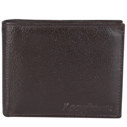 Elegant Brown Coloured Longhorn Gents Leather Wallet