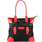 Red and Black styled Designer Ladies Genuine Leather Handbag from Leather Talk
