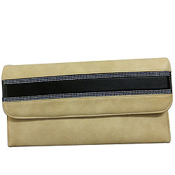 Elegant Spice Art Ladies Beige Clutch