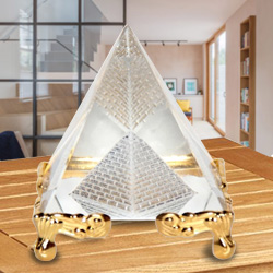Pyramid With golden stand