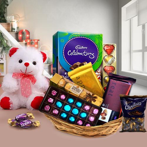 Array of Chocolate with Teddy Bear