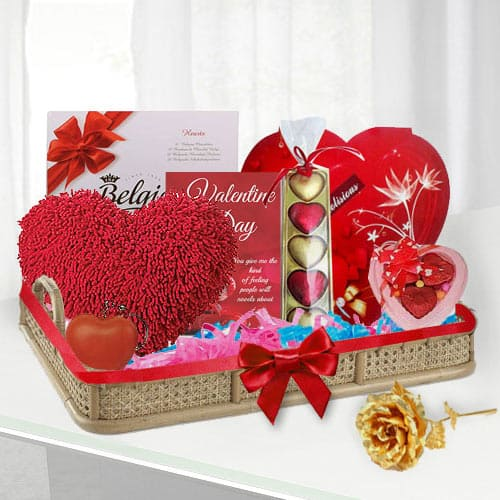 Delightful Choco Lovers Valentine Gift Basket<br><br>
