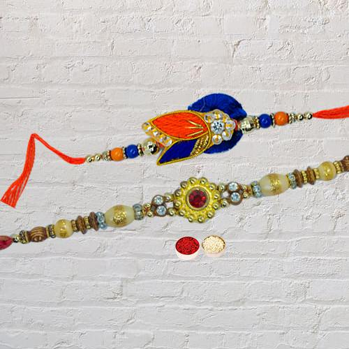 Amazing Rakhi Designed for Brother<br>