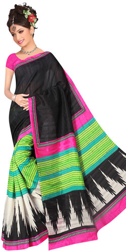 Arresting Women Special Royal Art Silk Multi-Coloured Printed Saree