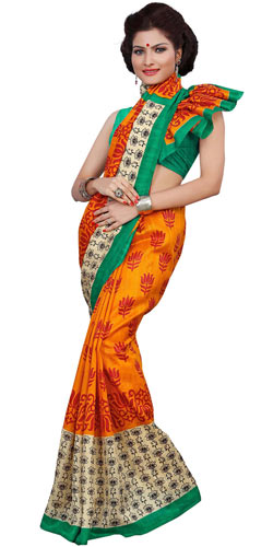 Lovely Multicolour Art Silk Printed Saree Collection