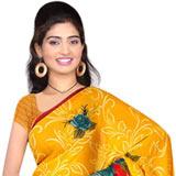 Astonishing Women's Georgette Printed Saree from Suredeal