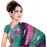 Attractive Women's Printed Georgette Saree from Suredeal Brand