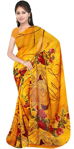 Designer Suredeal Selection of Printed Georgette Saree