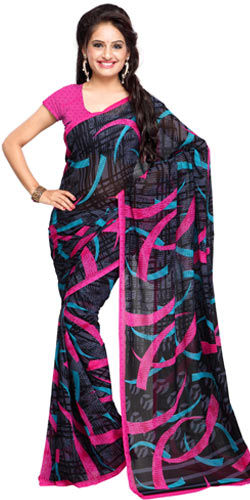 Decorous Ritz Georgette Saree