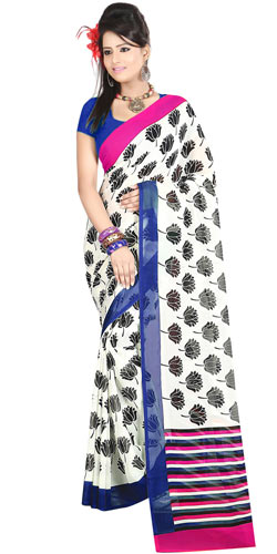 Superb Faux Gorgette Printed Saree