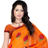 Dyed Dash Georgette Saree