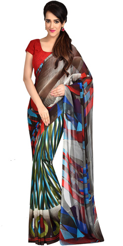 Resplendent Looking Dani Georgette Saree