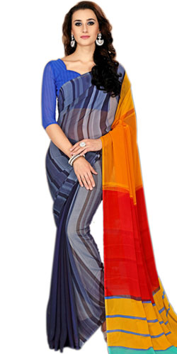 Elegant Marble Chiffon Saree in Multiple Colors