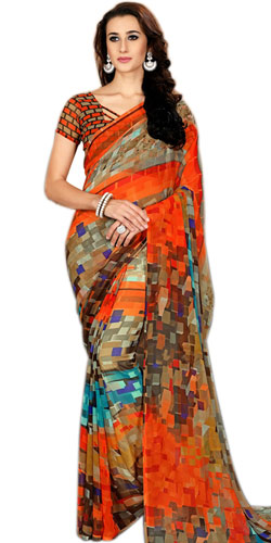 Admirable Ladies Delight Faux Chiffon Printed Saree