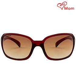 Amazing Oval Shaped Sunglasses with a Maroon Grey Body from Fastrack