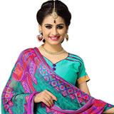 Sizzling Suredael Printed Cotton Women Suit in Multicolour