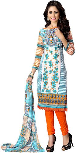 Popular Colour Co-Ordinated Cotton Printed Suredael Women Suit