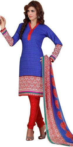 Graceful Chiffon N Crepe Printed Salwar Suit from Siya Collection