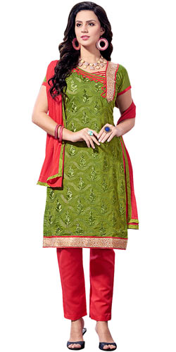 Smart Chanderi Printed Salwar Suit