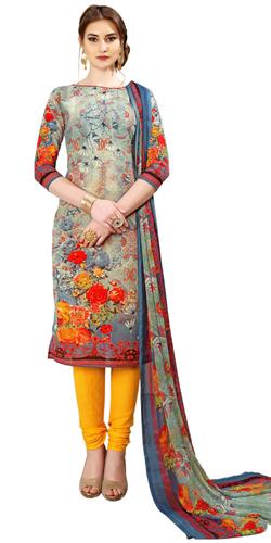 Sizzling Spun Cotton Salwar Suit Designed with Floral Print