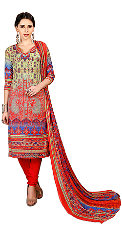 Lovely Spun Cotton Floral Print Salwar Suit for Ladies