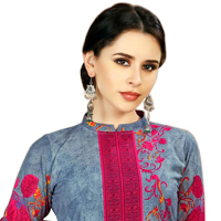 Stylish Floral Print Spun Cotton Salwar Suit for Ladies