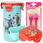 Splendid Lunch Break Tom and Jerry Pattern Tiffin Set