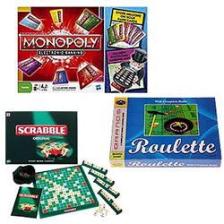 Gaming Special Funskool-Monopoly Electronic Banking , Roulette Game and Scrabble - The Word Game.