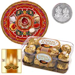 Thali with Ferrero Rocher Chocolate