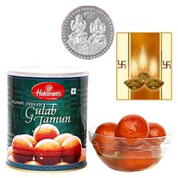 Haldiram Gulab Jamun with Silver Plated Coin