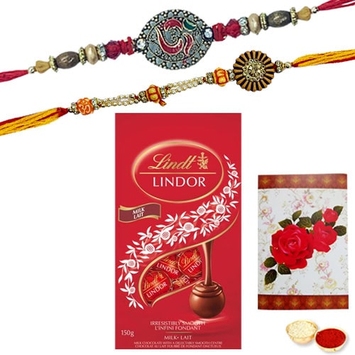 Gorgeous Rakhi and Chocolate with Bond of Love