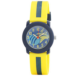 Fashionable Yellow/Blue Analog Kids Watch from Titan Zoop