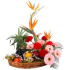 Regal Flowers with 5 Kg. Fruits Basket