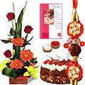Dazzling Rakhi Thread with Attractive Gifts